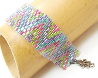 Candy Land Trip Beadwoven Bracelet/Cuff