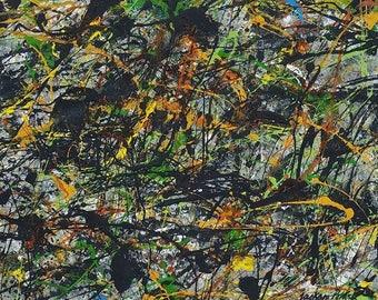 Jackson Pollock mixed media on paper