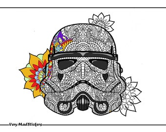 Flower Trooper Colouring Page