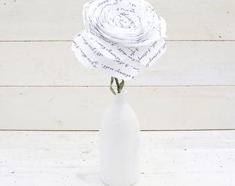 Wedding Anniversary Rose I loved  you then I love you still Flowers by Cotton Bird Designs
