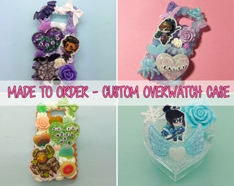 MADE TO ORDER: Custom Overwatch charm whipped cream decoden case for iPhone/Android/etc