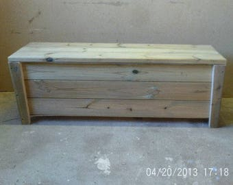 Chunky Storage Bench With Legs