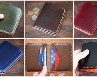BUILD-YOUR-OWN - 6 Pocket Horizontal wallet for cash and cards