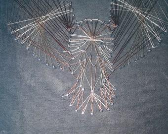 String art Owl, wall hanging
