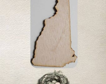 New Hampshire  State ( Small) Wood Cut Out - Laser Cut