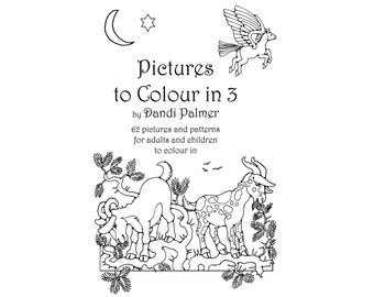 Pictures to Colour In 3.  62 different pages to download and print out.