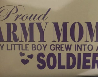 Proud Army Mom Decal 7 x 4