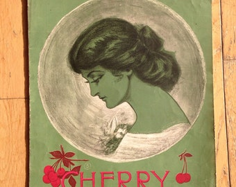 Antique Sheet Music Cherry by LA Albert Intermezzo Two Step Victorian Era The Mascot March Jerome H Remick Whitney Warner Publishing 1900s