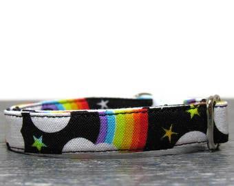 Cat Collar, Rainbow Cat Collar, Multi-Color Cat Collars, Unicorn Cat Collars, Cotton Cat Collars, Cat Collars, Kitty Collar, Kitten Collar