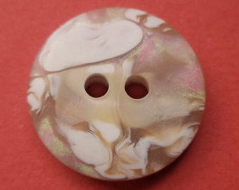 10 light brown buttons 18mm (3265) button