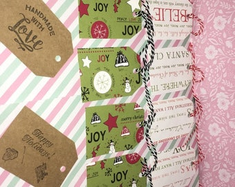 12 multi-assorted christmas gift tags