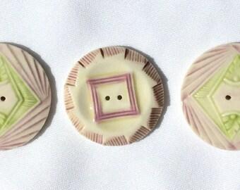 Vintage  Porcelain Buttons- PR-19