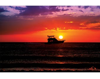 Fine Art Landscape Photography - Ace of Spades, Nature Photography, Sunset, Clearwater Beach, Florida, Prints, Canvas