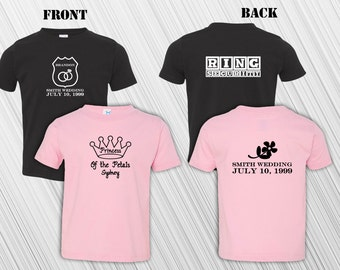 Ring Security Ring Bearer AND Princess of The Petals T-Shirt Set | Ring Bearer | Flower Girl | Custom | Personalized | Wedding Party Gift