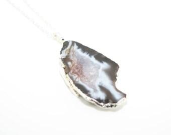Druzy Geode Necklace, Druzy Geode Jewellery, Crystal Geode NecklaceGeode Necklace, Druzy Necklace, Semi Precious Gemstone Necklace,