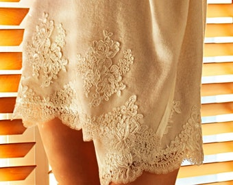 Corded Lace Embroidered IVORY Cardigan, Short Angora Wool Cardigan, Wrap Dress, Made to Measure Cardigan, Plus Size Cardigan, Womens Gift