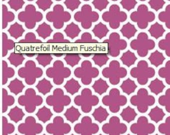 "1 yard of Riley Blake Designs ""Quatrefoil 2."" 100% cotton, pattern C435-93 Fuschia."