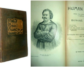 The Works of Honore de Balzac - The Human Comedy - 1898 by Peter Fennelon Collier Illustrated with Wood Engravings