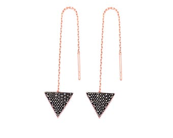 Triangle Sterling Silver Black