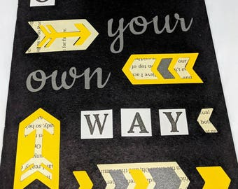 Go Your Own Way Slogan Notebook/Sketchbook A5