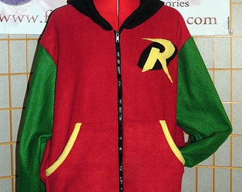 Batman - Robin Hoodie jacket cosplay costume coat handmade