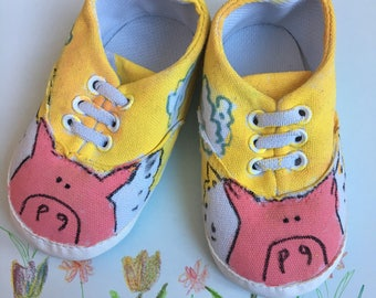 12-18 mo. Flying pig sneakers