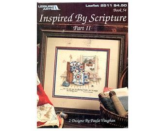 Inspired by Scripture (2 Designs) Cross Stitch Leaflet, Quilts Cross Stitch, Cross Stitch Leaflet, Country Cross Stitch, NewYorkTreasures