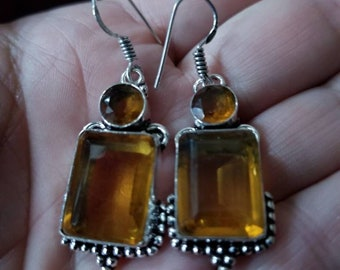 Honey Quartz Earrings!