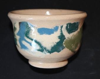 Ceramic tea cup 16 Mokume gane