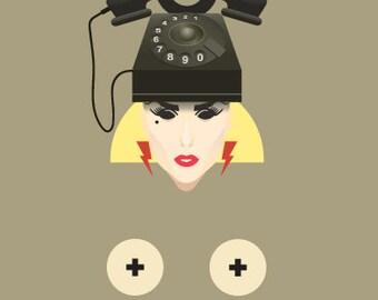 LADY GAGA POSTER - Telephone