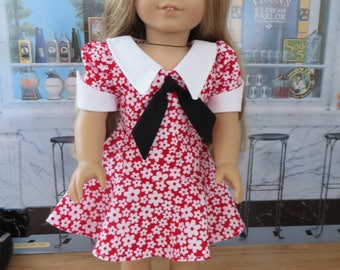 18 Inch Doll Clothes - 1970 Style Dress