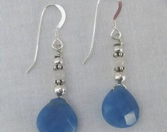 Blue Quartz Earrings (E19)