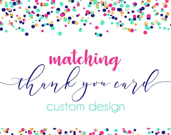 Custom Folding Thank You Card Design- Front and Back