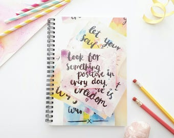 A5 lined inspirational notebook - Positive quote notebook - Uplifting gift - motivational quote notebook - Supportive gift - Gift for friend