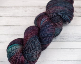 Hand Dyed Yarn / The Sound Of Her Wings / Variegated Yarn / Hand Dyed Sock Yarn / Kettle Dyed Yarn / DYED TO ORDER