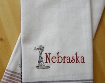 Nebraska Windmill Kitchen Towel
