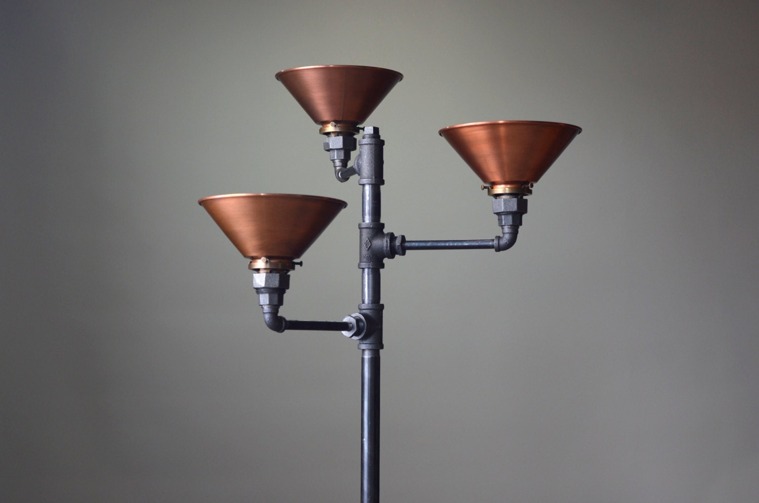 Torchiere floor lamp copper shade industrial floor lamp zoom aloadofball Choice Image