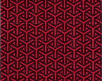 Boomerangs Red Blotter Art