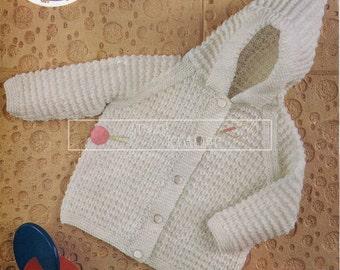 """Baby Pram Coat DK 20-22"""" Peter Pan P257 Vintage Knitting Pattern PDF instant download"""