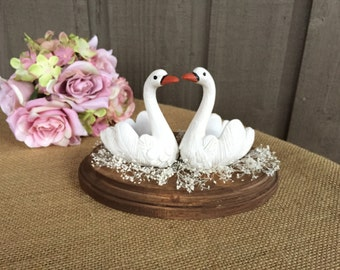 Swan wedding cake topper/wedding cake topper/ cake topper/ wedding cake/ cake top/Swan cake topper/ wedding accessory/wedding keepsake/swan