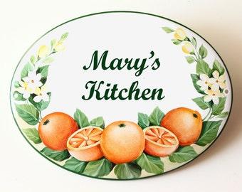 Decor oranges sign for kitchen, art for kitchen, custom kitchen gift, kitchen home decor