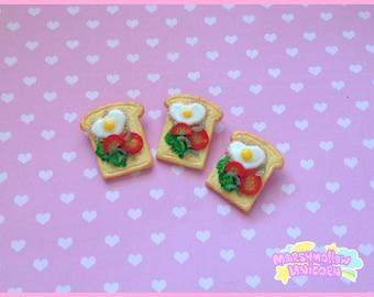 Toast brooch yummy and cute