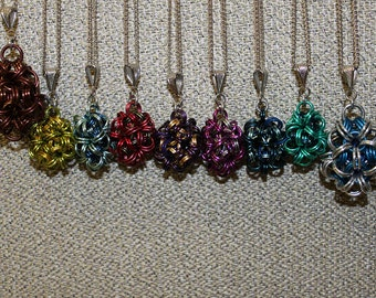 Dodecahedron pendant necklace