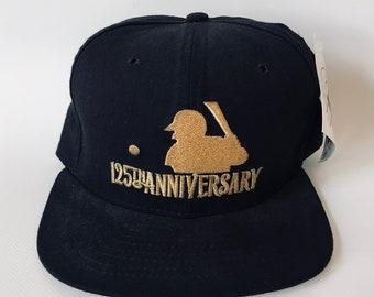 DEADSTOCK MLB 125th Anniversary Baseball Snapback Hat Cap by New Era NWT nos