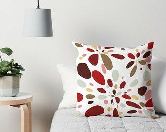 Throw Pillow, Modern Pillow, Art Throw Pillow, 16x16 18x18 20x20 24x24 26x26, Toss Pillow, Couch Pillow, Accent Pillow, Retro Pillow
