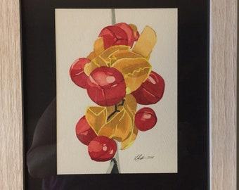 Red berries (framed)