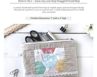 English PDF Pattern Storyteller Hexie-Pouch (download)