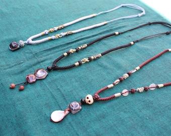 Handmade Slip knot necklaces