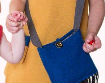 Girls Tweed Shoulder Bag