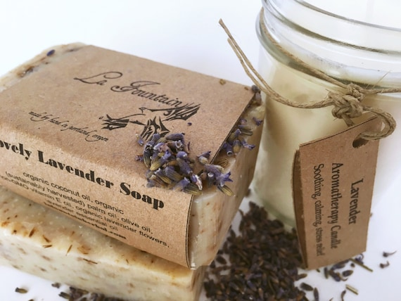 Gift Set - Lavender Candle and Soap Gift Set - Gift Sets